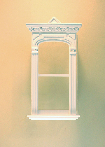 Golden Gate Decorated Single Window White