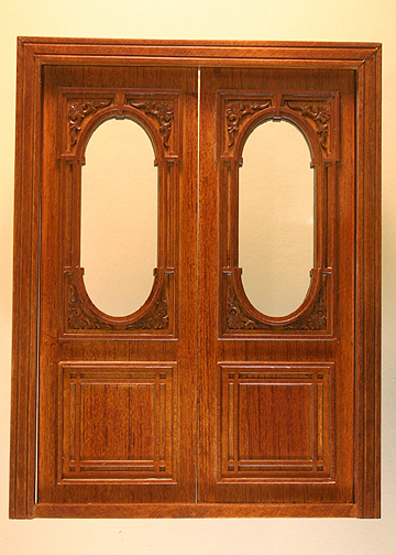 Penniman Carved Double Door Stained